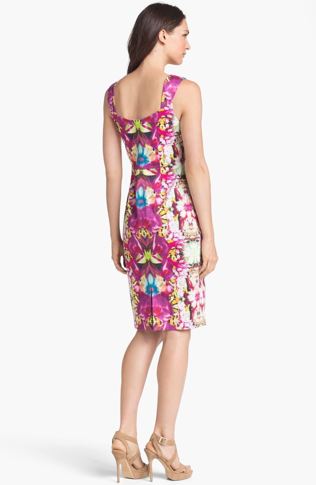 Alternate Image 2  - Rachel Roy Stretch Cotton Sheath Dress