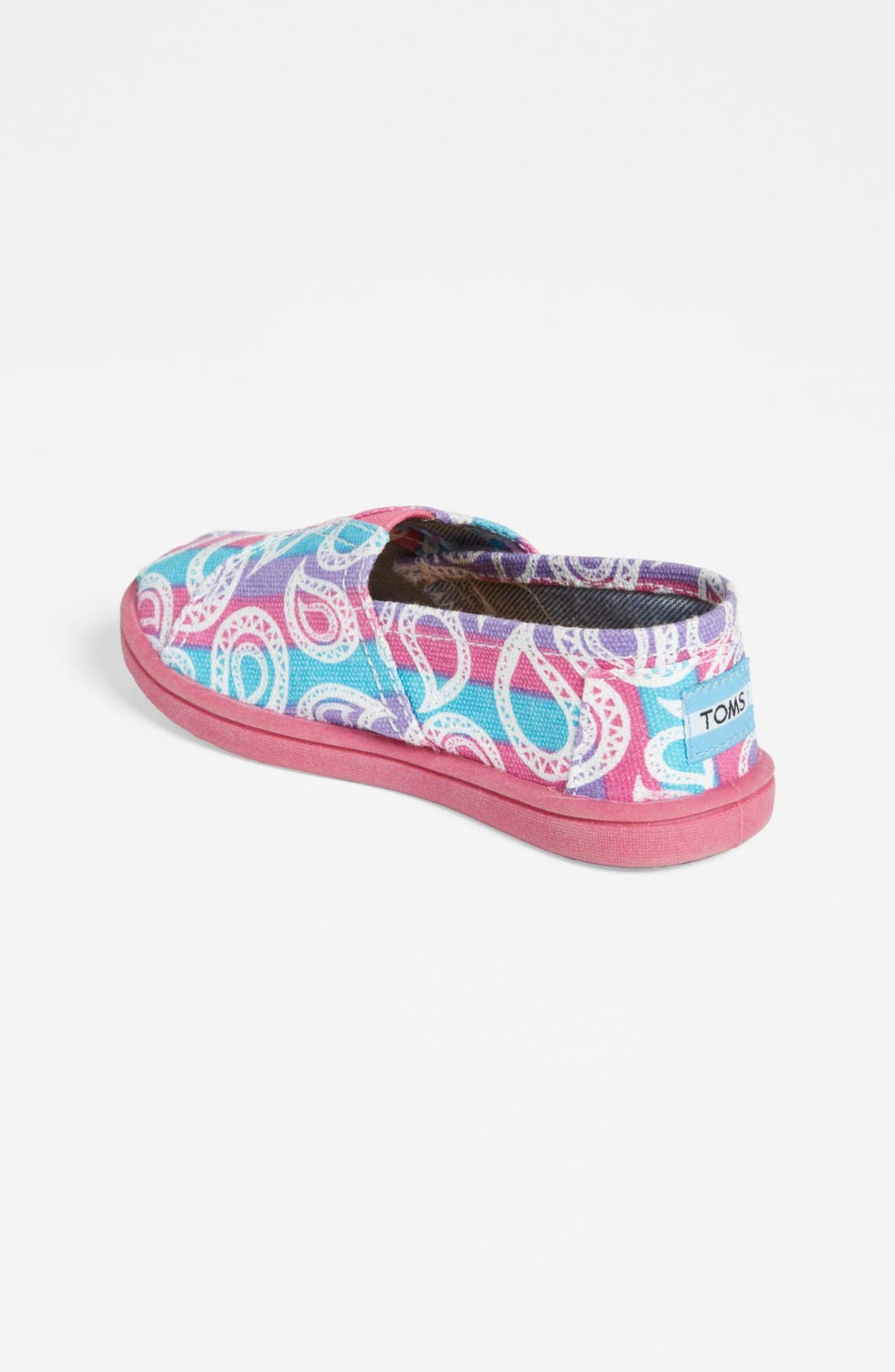 Alternate Image 2  - TOMS 'Classic Tiny - Rainbow Paisley' Slip-On (Baby, Walker & Toddler)