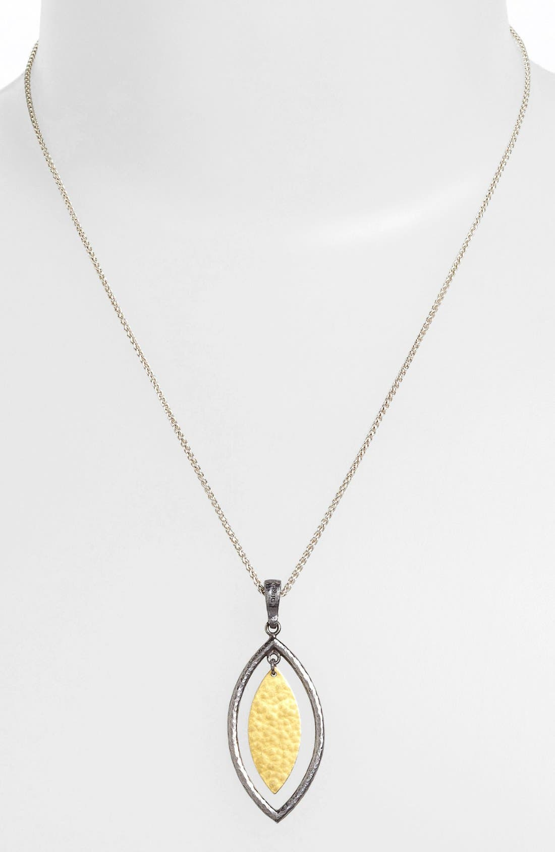 Alternate Image 1 Selected - Gurhan 'Willow' Blackened Silver & Gold Pendant Necklace