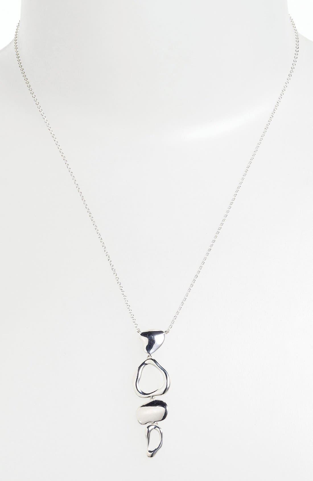 Alternate Image 2  - Nadri 'Sculpted' Sterling Silver Pendant Necklace