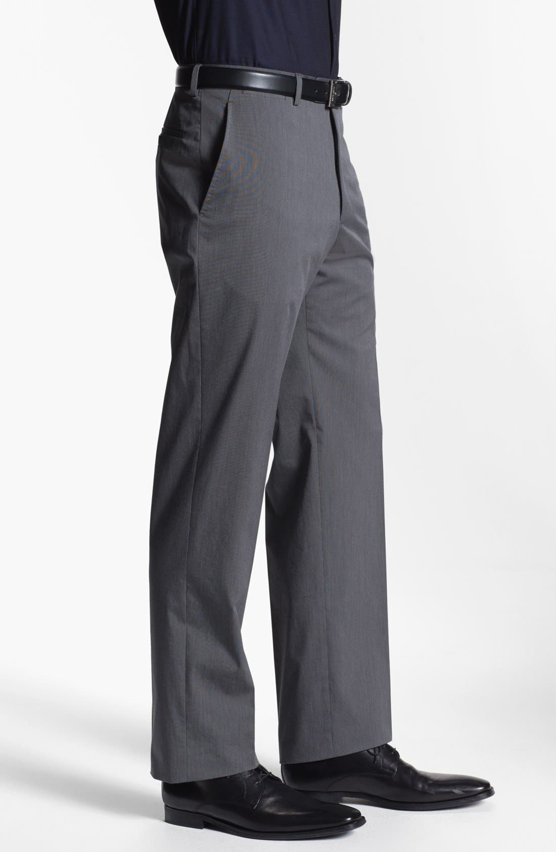 Alternate Image 3  - Armani Collezioni Stretch Flat Front Trousers