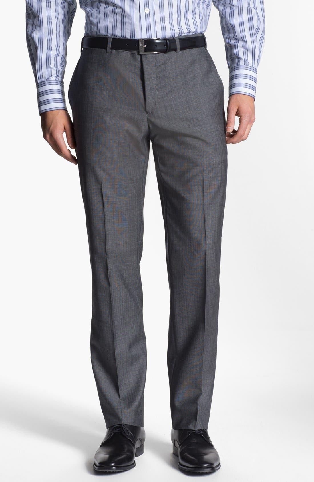 Alternate Image 4  - Versace Trim Fit Wool Blend Suit