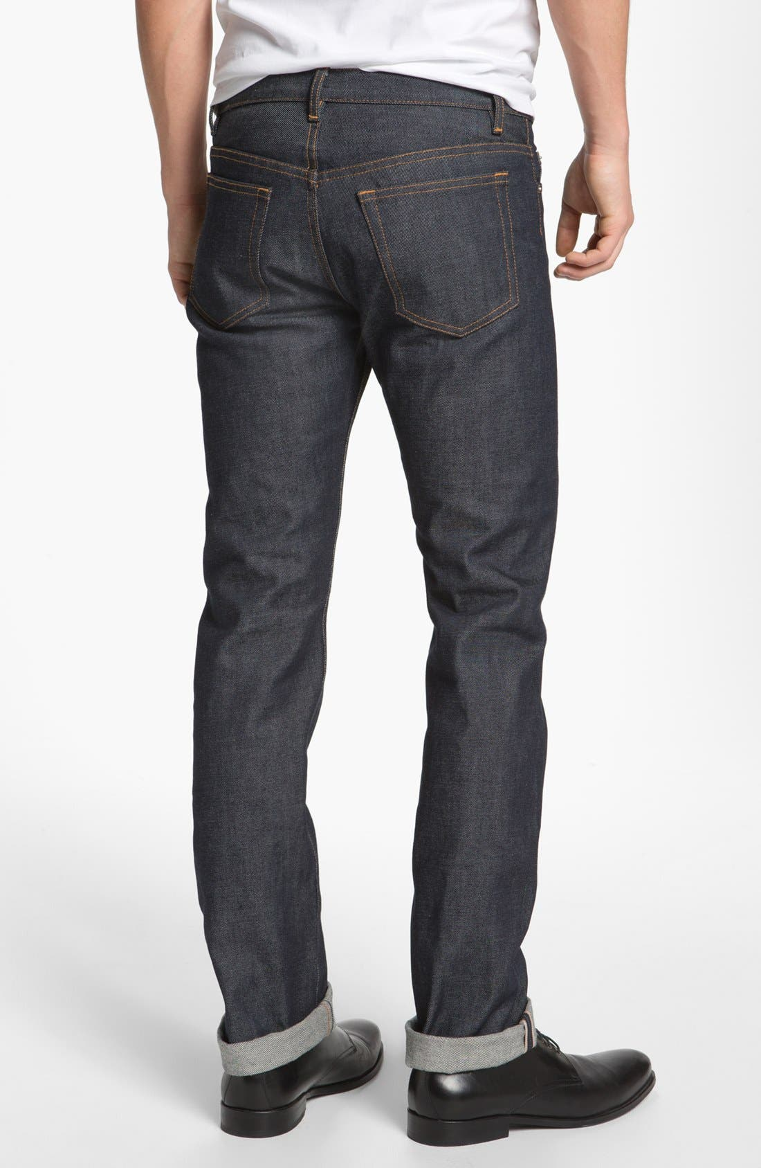 Alternate Image 2  - A.P.C. Petit New Standard Slim Straight Leg Selvedge Jeans