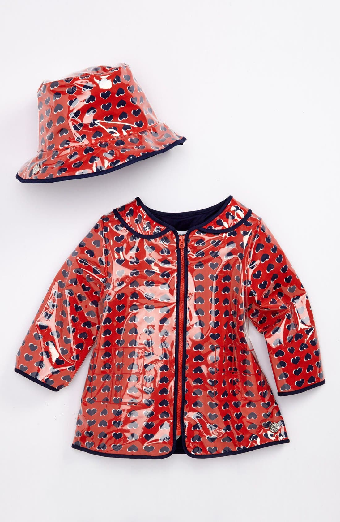 Alternate Image 1 Selected - LITTLE MARC JACOBS Raincoat & Hat (Toddler)