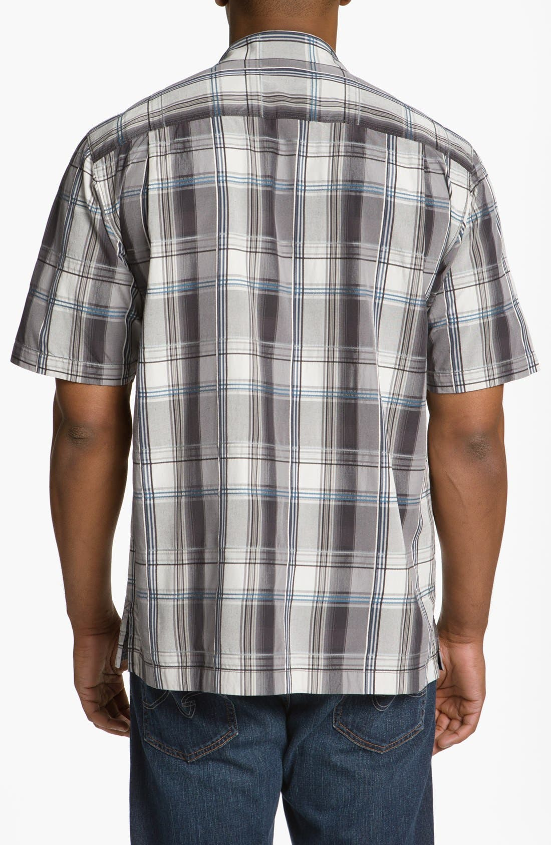 Alternate Image 2  - Tommy Bahama 'Palace Plaid' Silk Campshirt