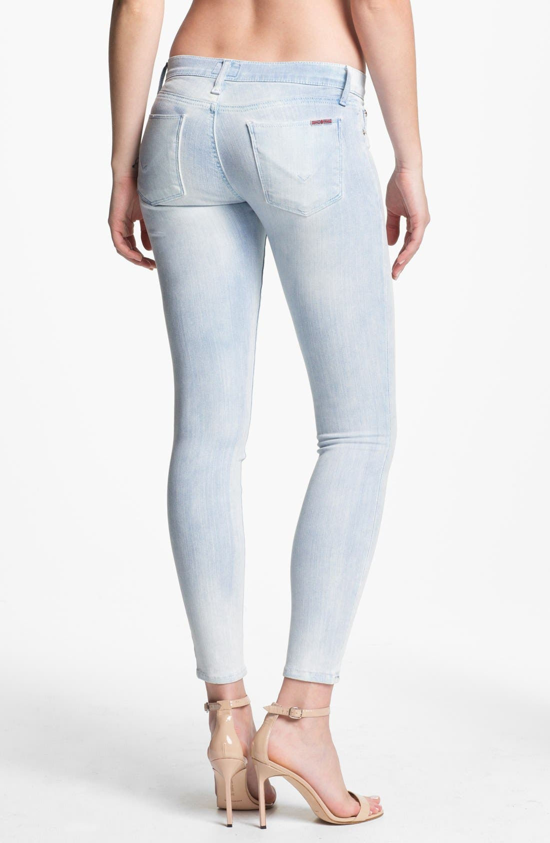 Alternate Image 2  - Hudson Jeans 'Krista' Super Skinny Jeans (Bondi Blue)