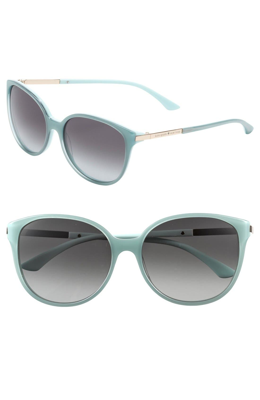 Alternate Image 1 Selected - kate spade new york 'shawna' 56mm sunglasses