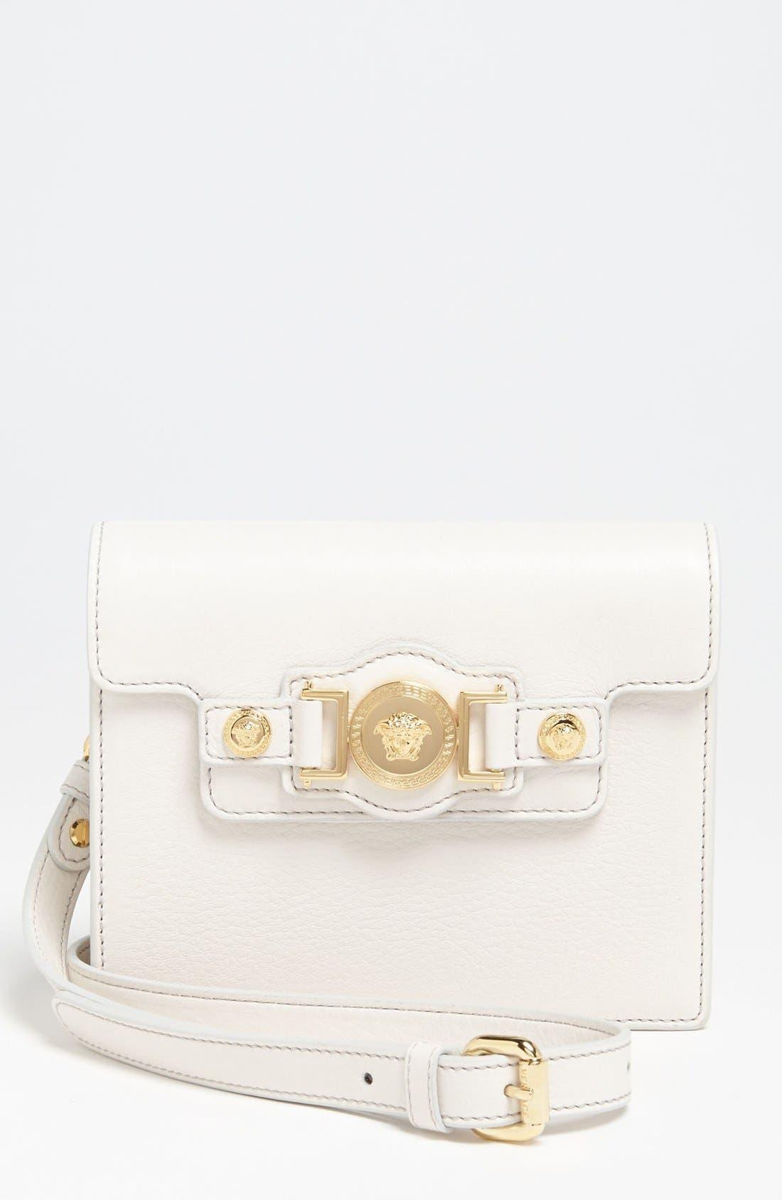 Alternate Image 1 Selected - Versace 'Mini - Medusa' Leather Crossbody Bag