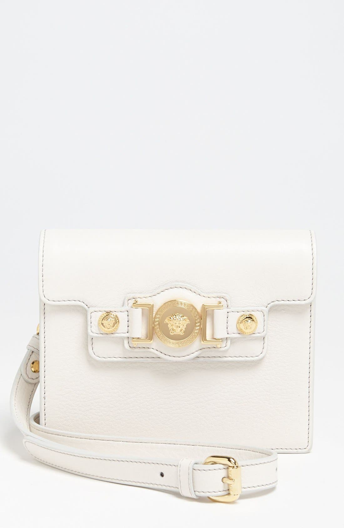 Main Image - Versace 'Mini - Medusa' Leather Crossbody Bag