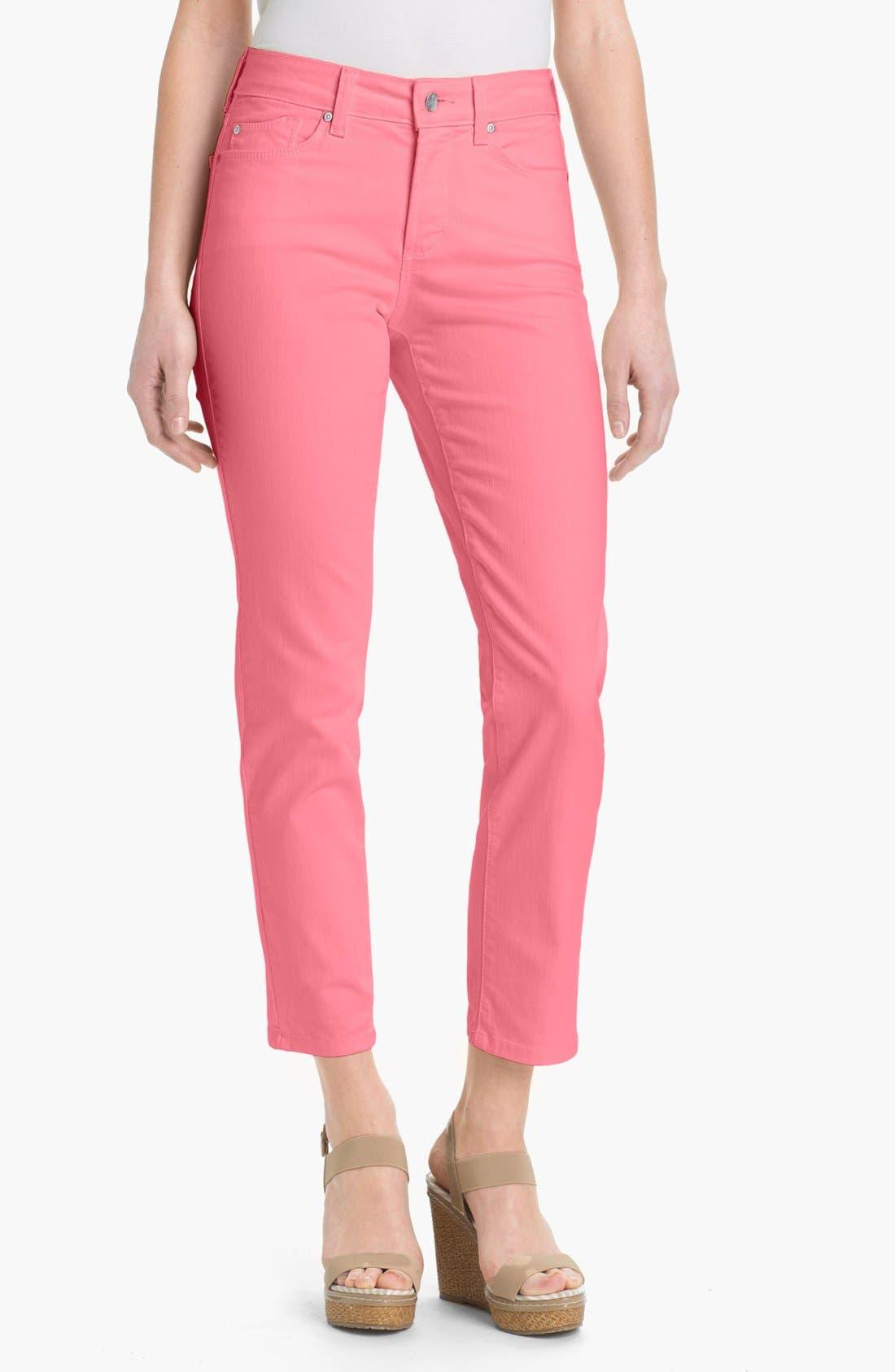 Alternate Image 1 Selected - NYDJ 'Alisha' Skinny Stretch Ankle Jeans (Petite)