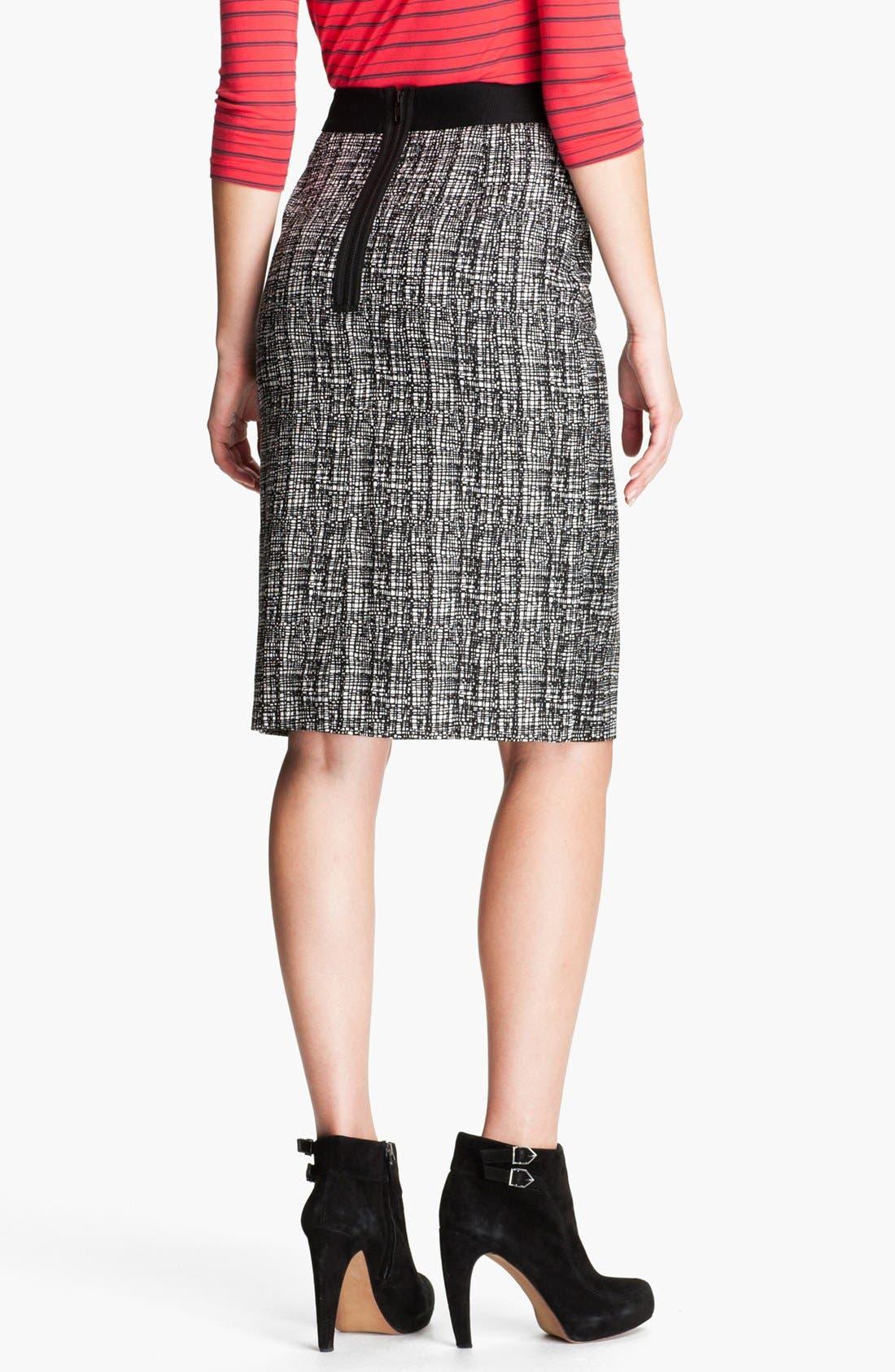 Alternate Image 2  - Halogen® Patterned Pencil Skirt (Petite)