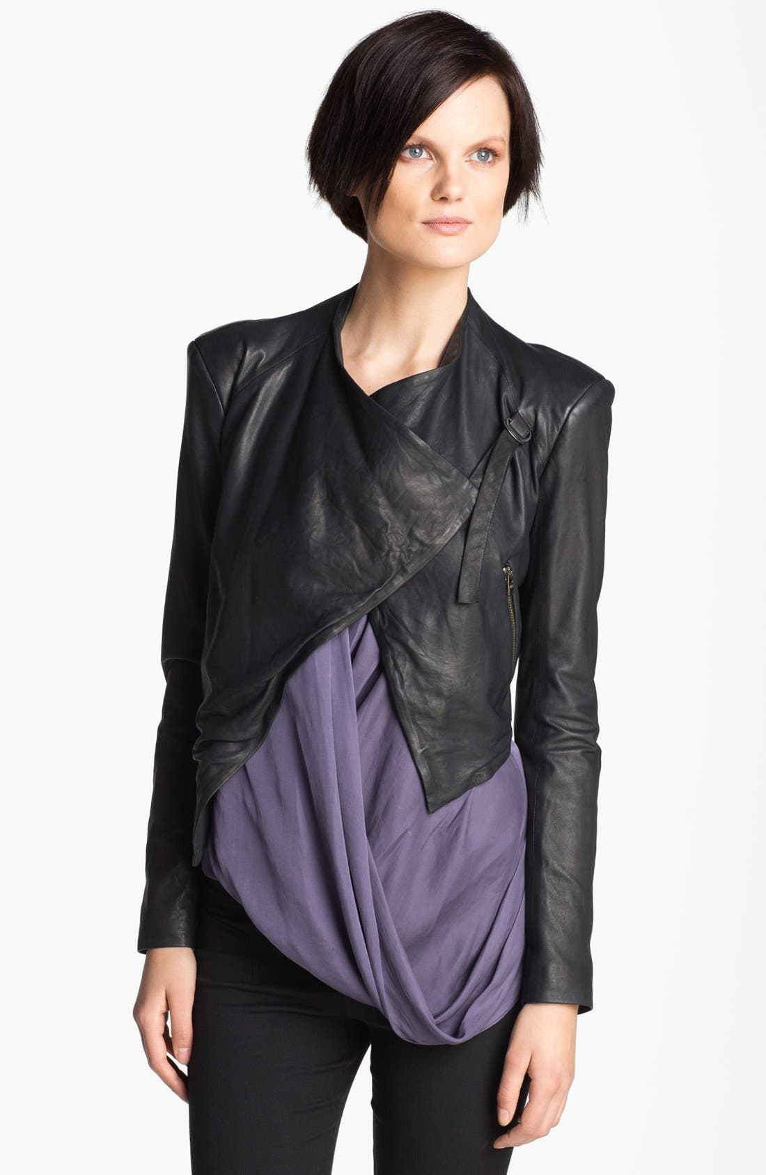 Alternate Image 1 Selected - HELMUT Helmut Lang Washed Leather Jacket