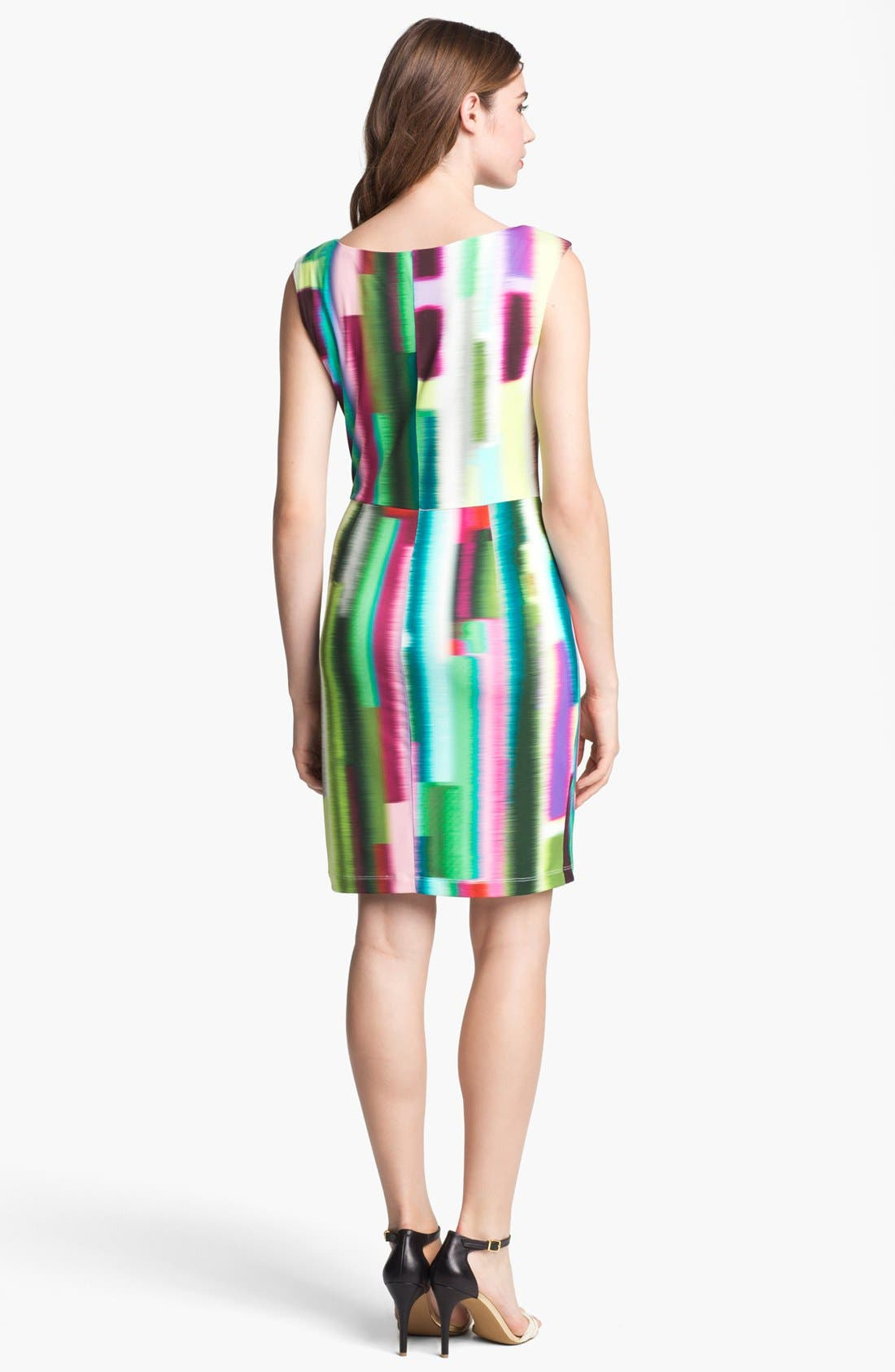 Alternate Image 2  - Suzi Chin for Maggy Boutique Print Ruched Jersey Dress