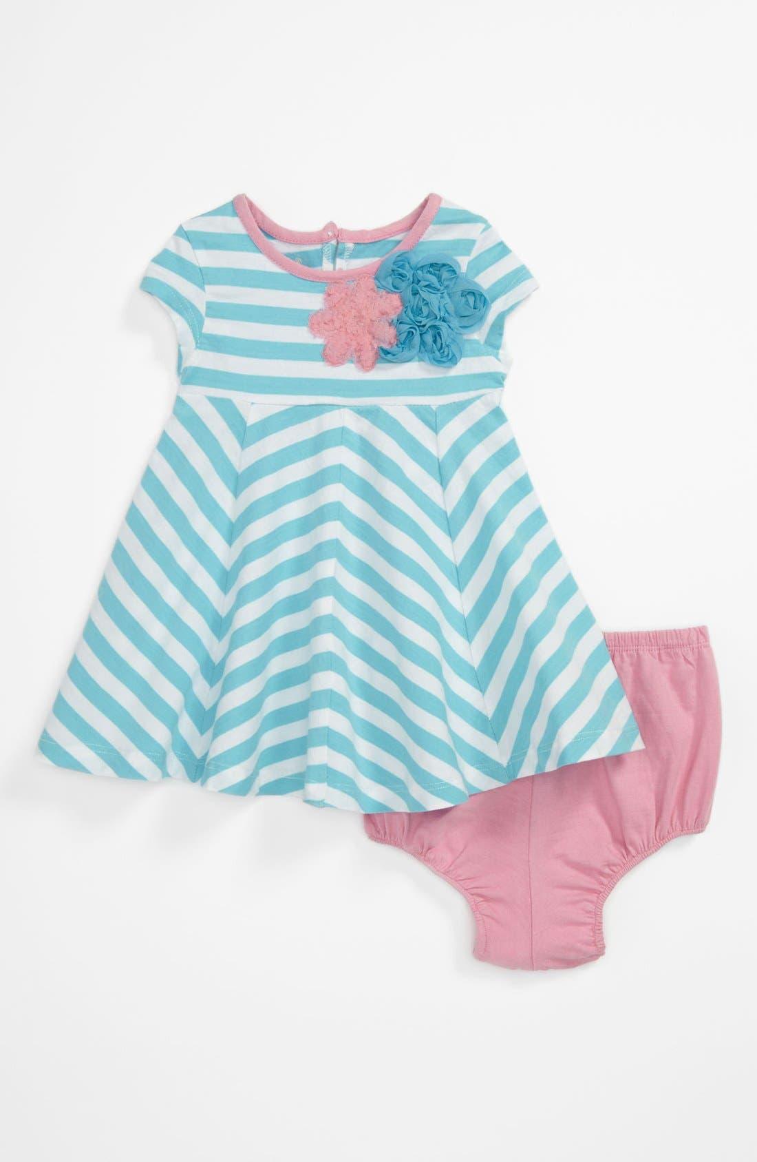 Main Image - Pippa & Julie Stripe Dress (Baby)