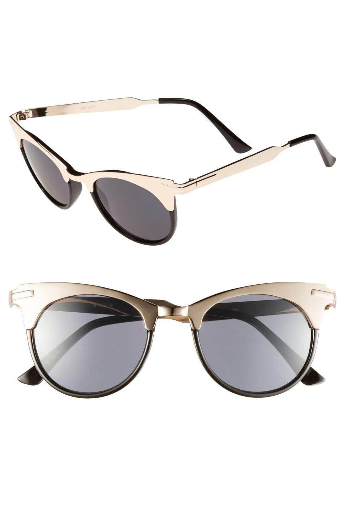Main Image - BP. Two Tone Cat's Eye Sunglasses