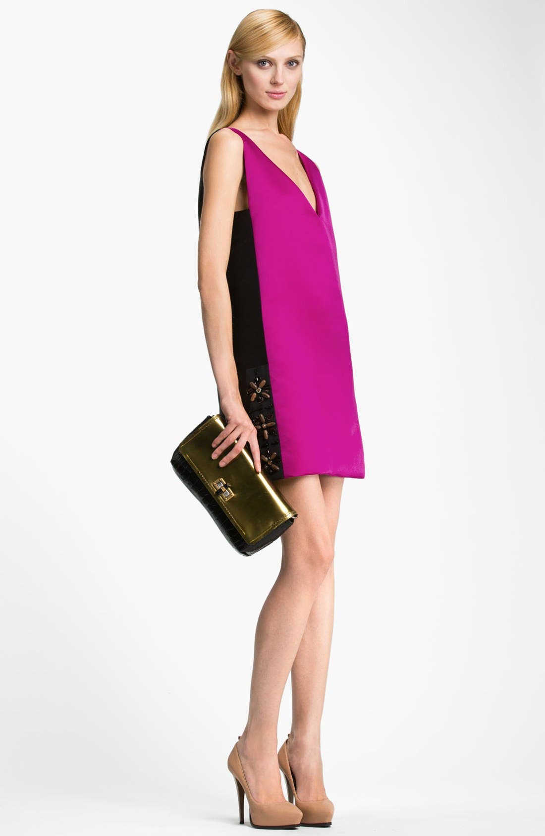 Alternate Image 3  - Lanvin Bicolor Silk Dress
