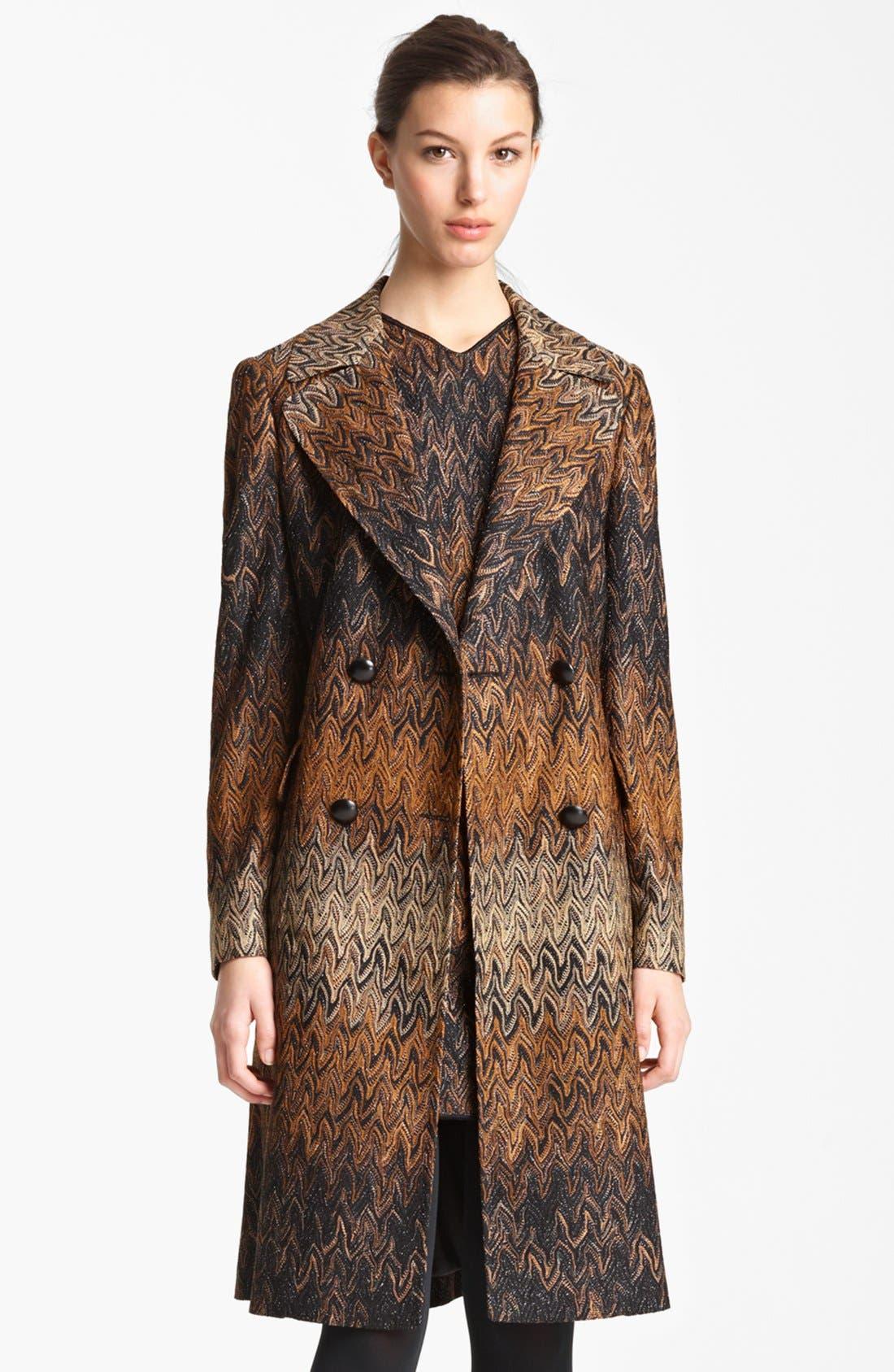 Alternate Image 1 Selected - Missoni Long Flame Stitch Coat
