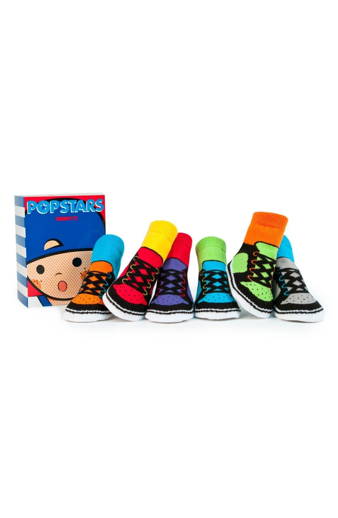 Main Image - Trumpette 'Pop Stars' Socks Gift Set (6-Pack)(Baby Boys)