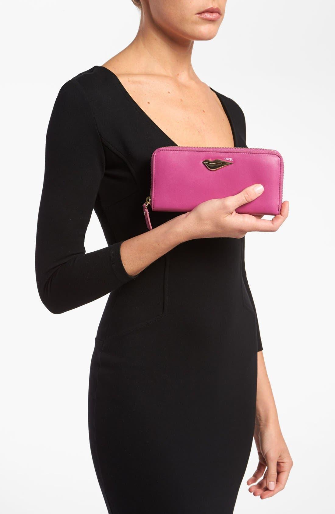 Alternate Image 4  - Diane von Furstenberg 'Lips' Leather Wallet