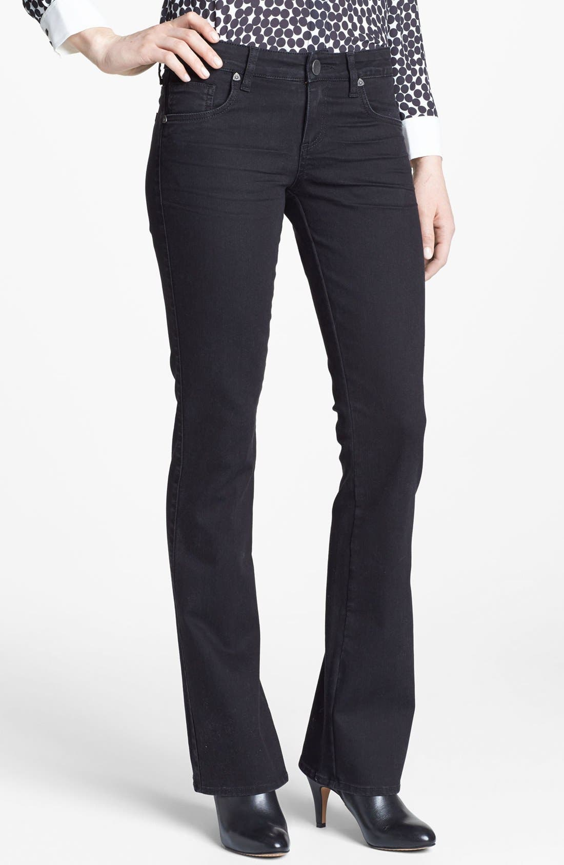 Alternate Image 1 Selected - KUT from the Kloth Farrah' Mini Bootcut Jeans (Black)