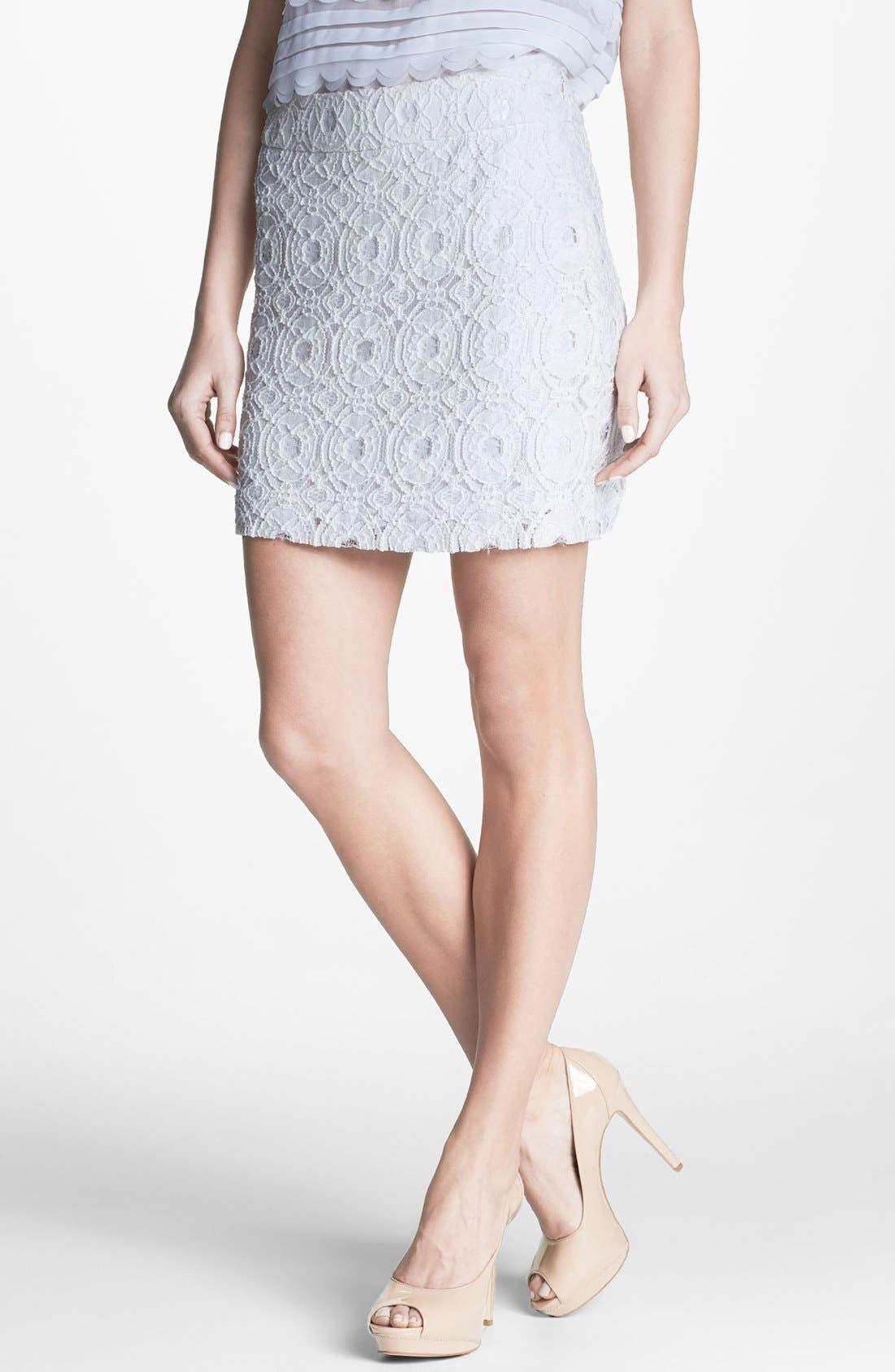 Alternate Image 1 Selected - kensie Lace Skirt
