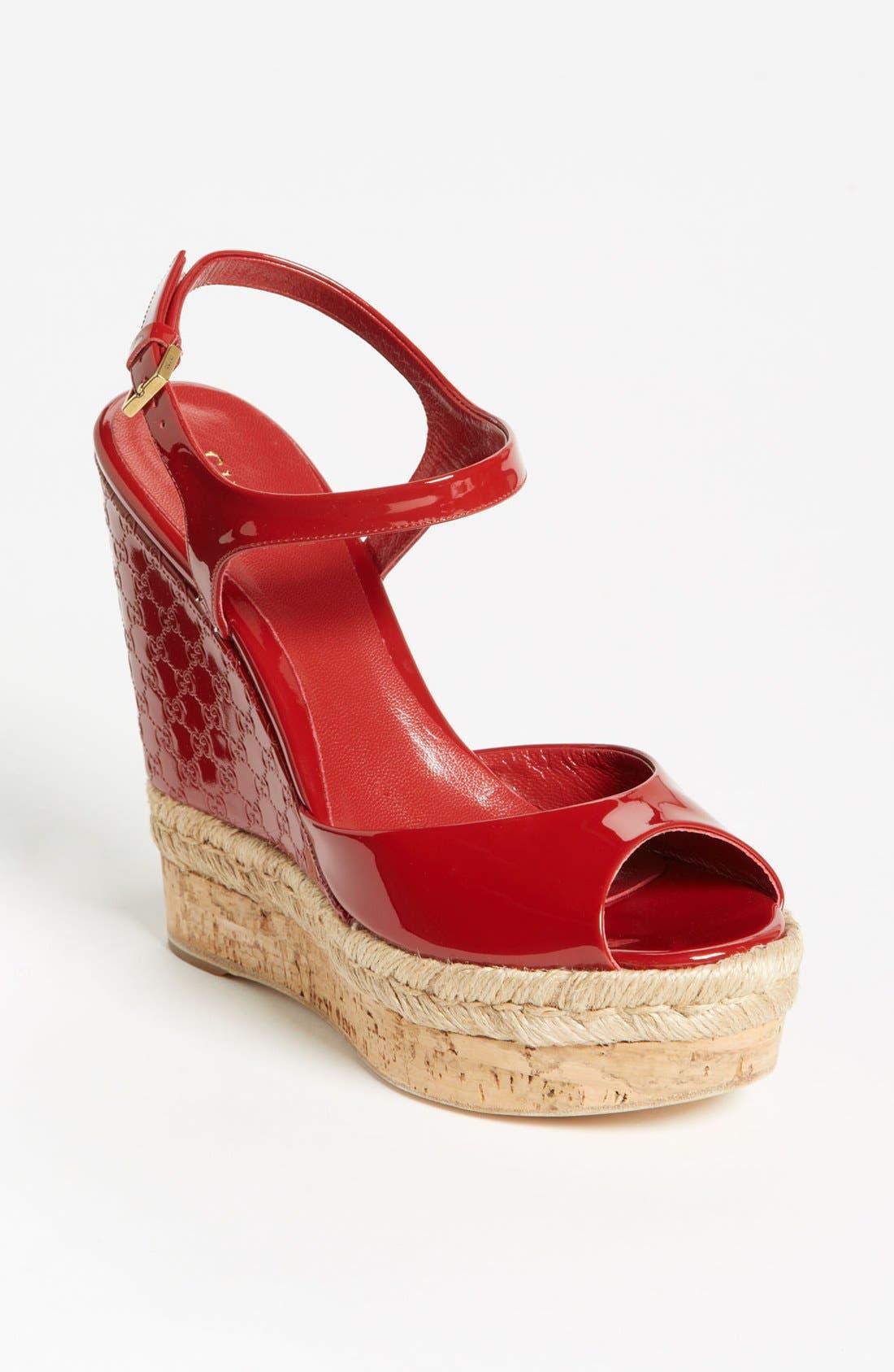 Alternate Image 1 Selected - Gucci 'Hollie' Wedge Sandal
