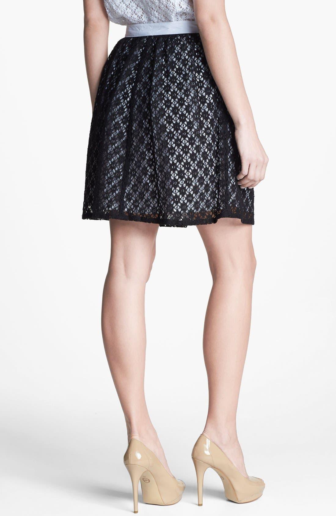 Alternate Image 2  - Kensie Floral Lace Skirt