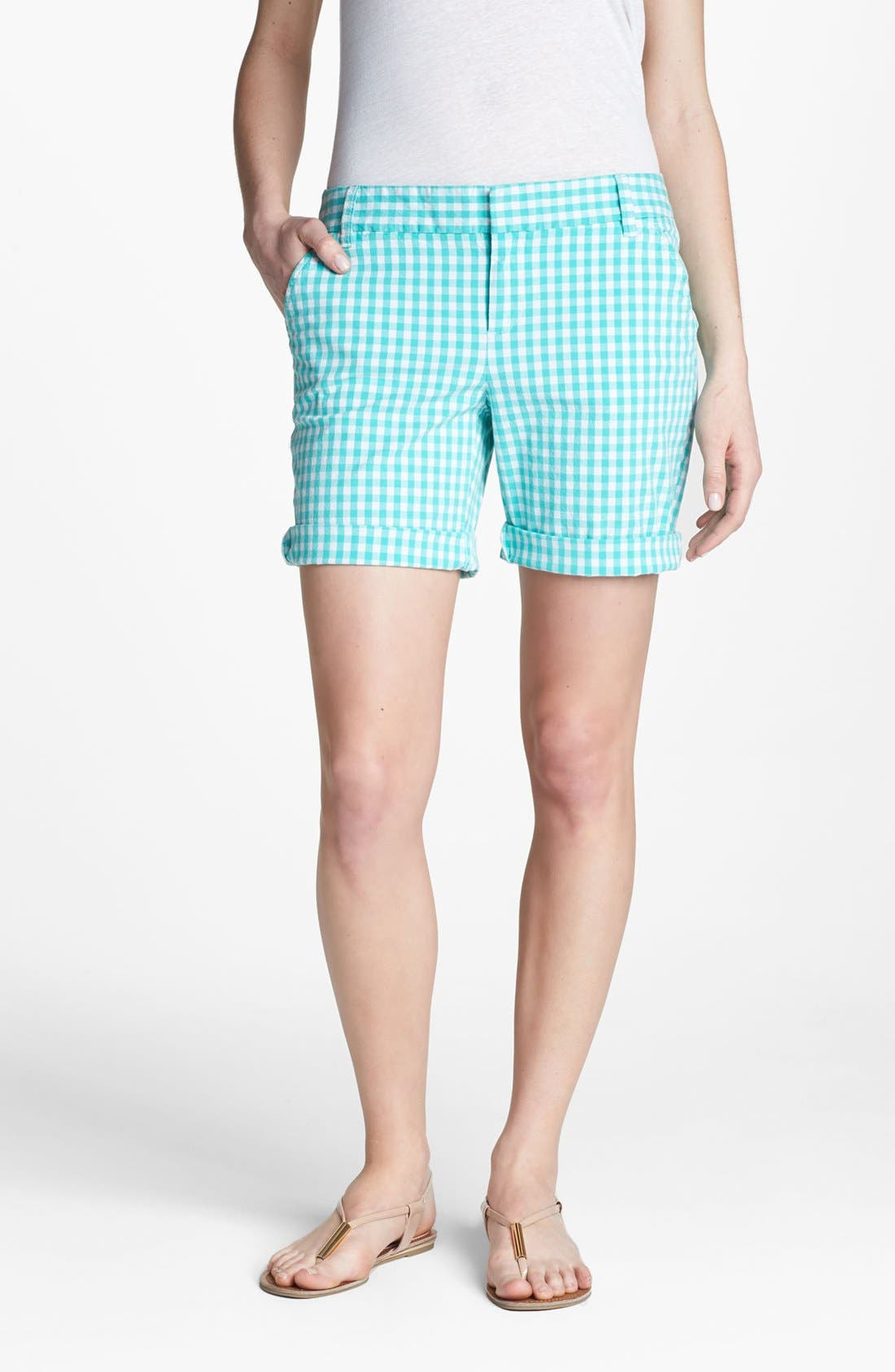 Main Image - Caslon® Clean Front Nine-Inch Shorts (Regular & Petite)