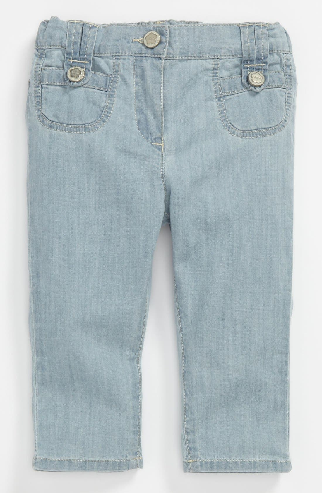Alternate Image 2  - Chloé Bleached Denim Pants (Toddler)
