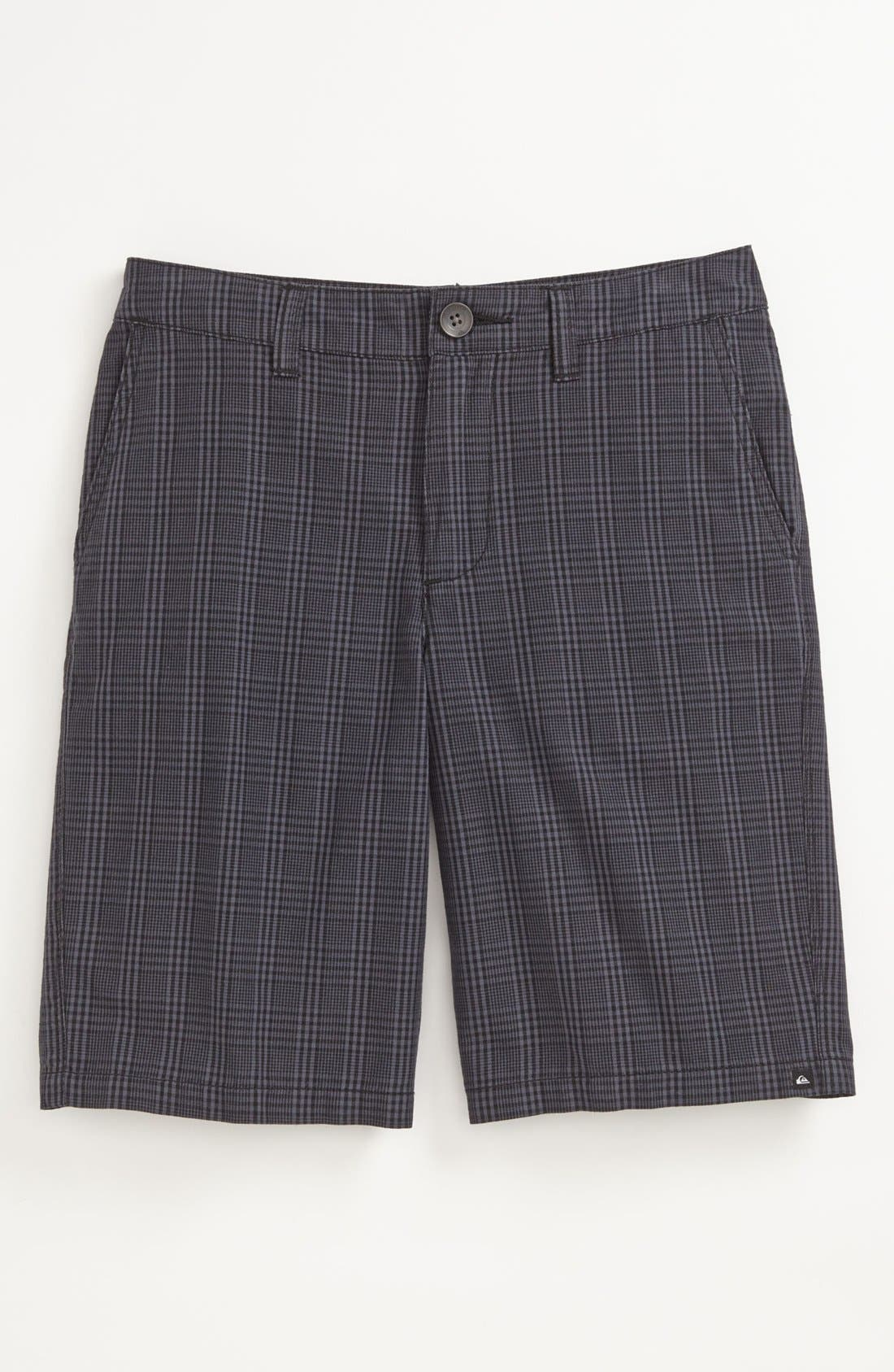 Main Image - Quiksilver 'Agenda Suiting' Plaid Shorts (Big Boys)