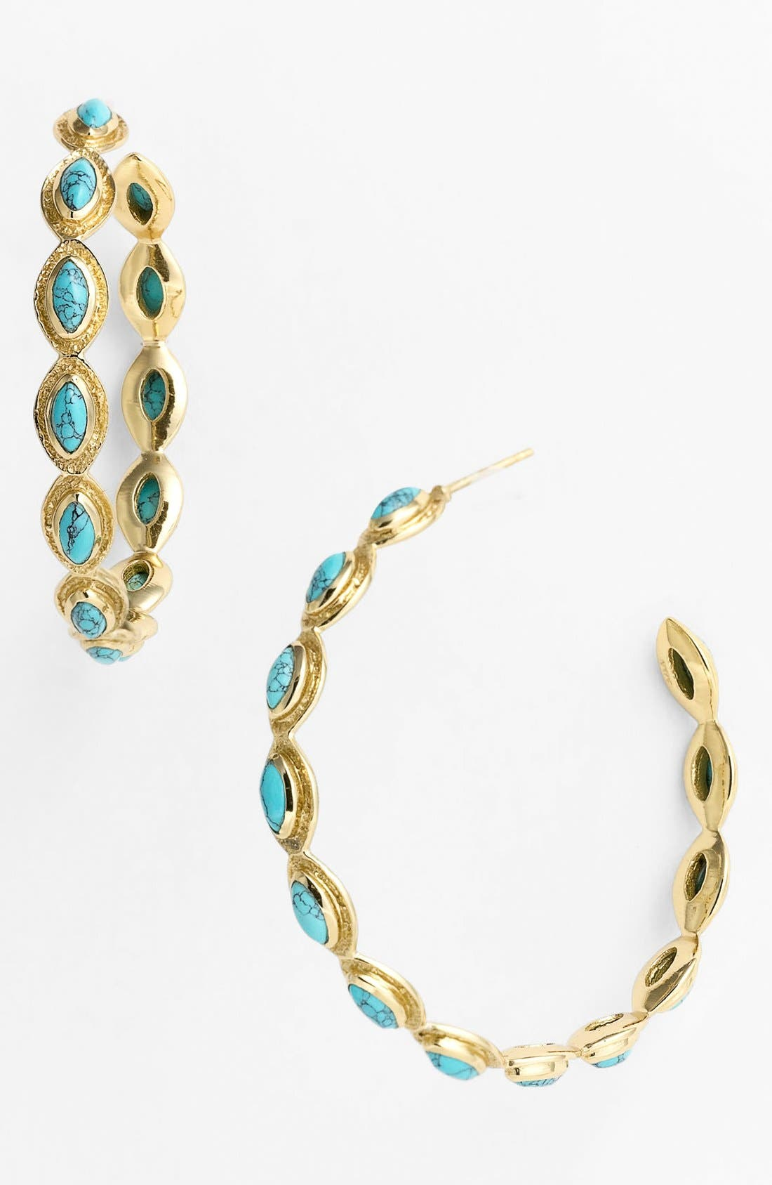 Alternate Image 1 Selected - Melinda Maria 'Gwyneth' Medium Hoop Earrings (Nordstrom Exclusive)