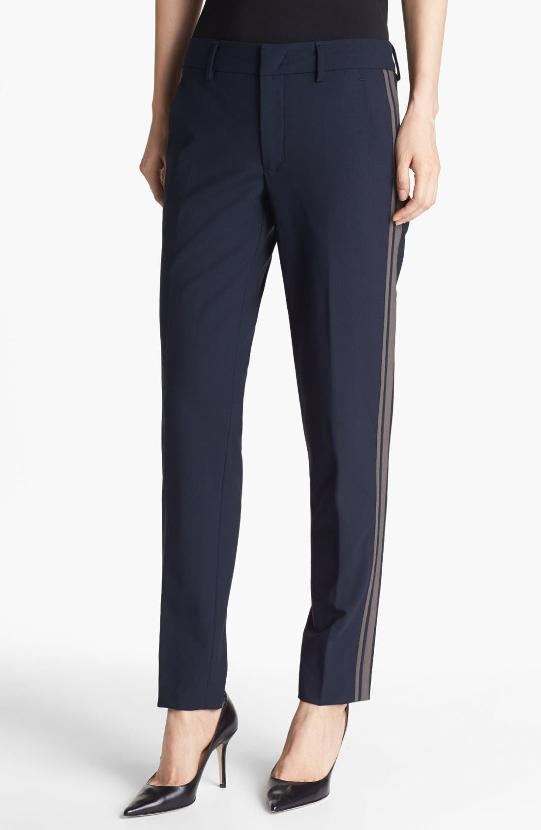 Alternate Image 1 Selected - Vince 'Strapping' Stretch Wool Trousers