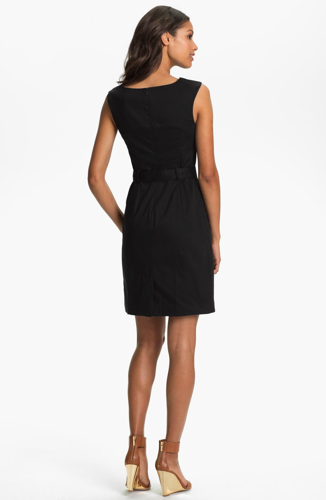Alternate Image 2  - Ellen Tracy Belted Sheath Dress (Regular & Petite)