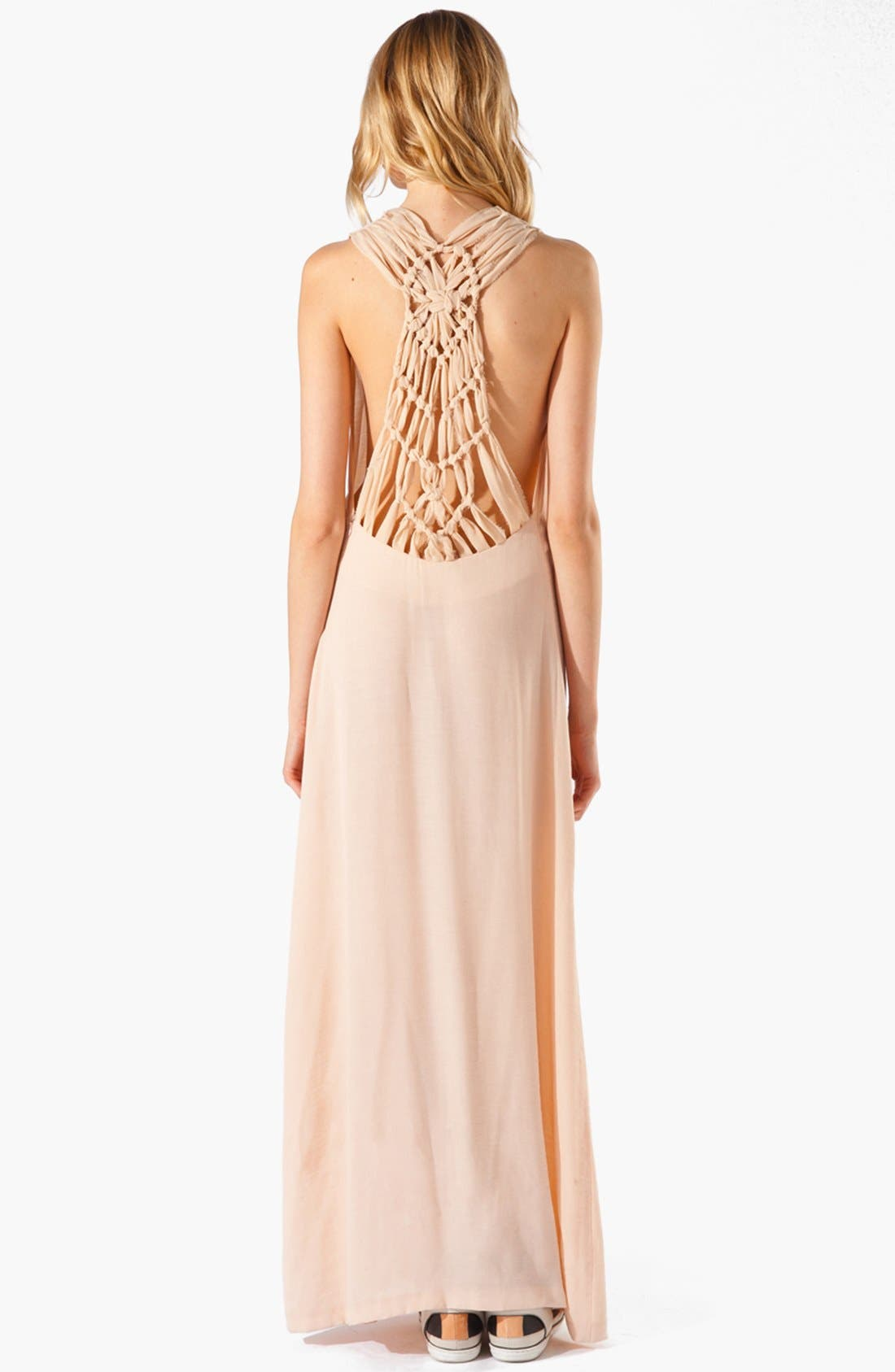 Alternate Image 2  - maje 'Armance' Macramé Maxi Dress