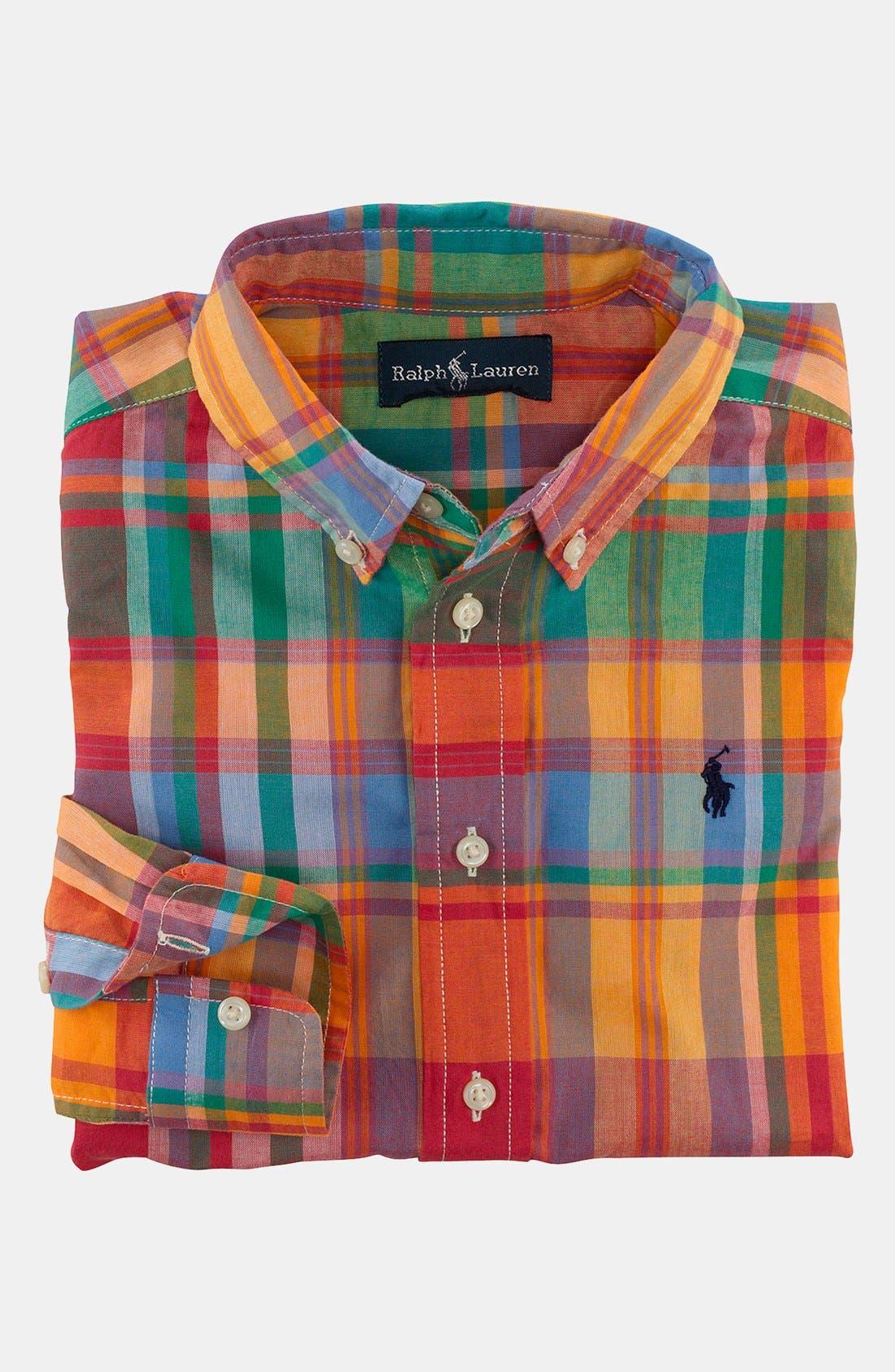 Alternate Image 1 Selected - Ralph Lauren Sport Shirt (Toddler)