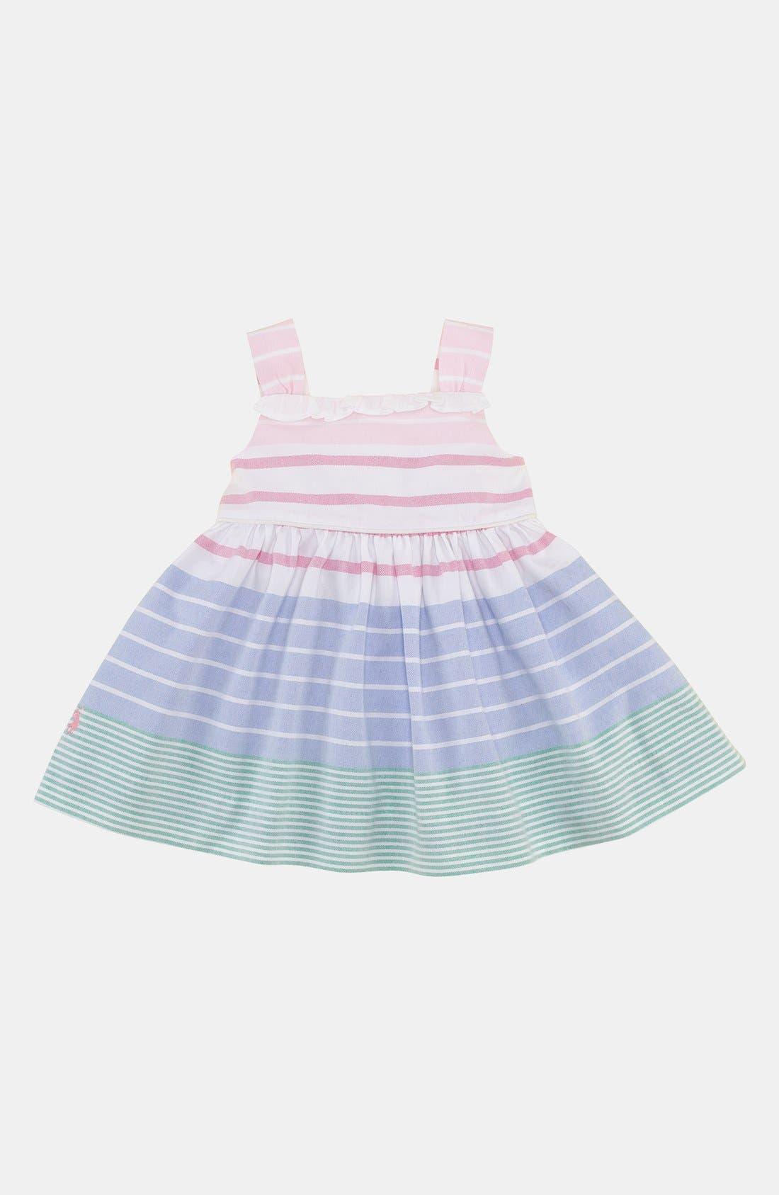 Main Image - Ralph Lauren Stripe Dress & Bloomers (Infant)