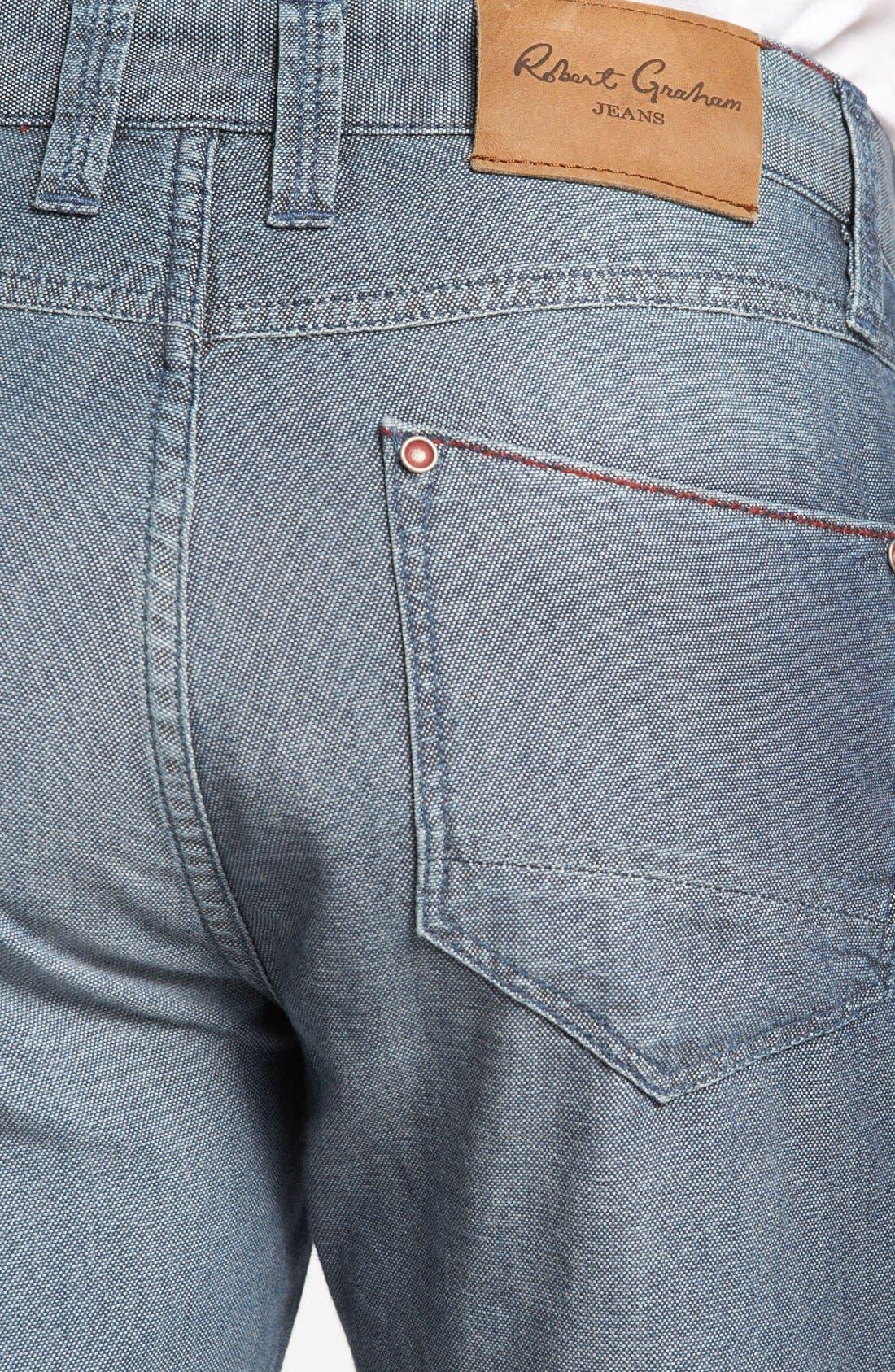 Alternate Image 4  - Robert Graham 'Denim Nails' Classic Fit Jeans (Indigo)