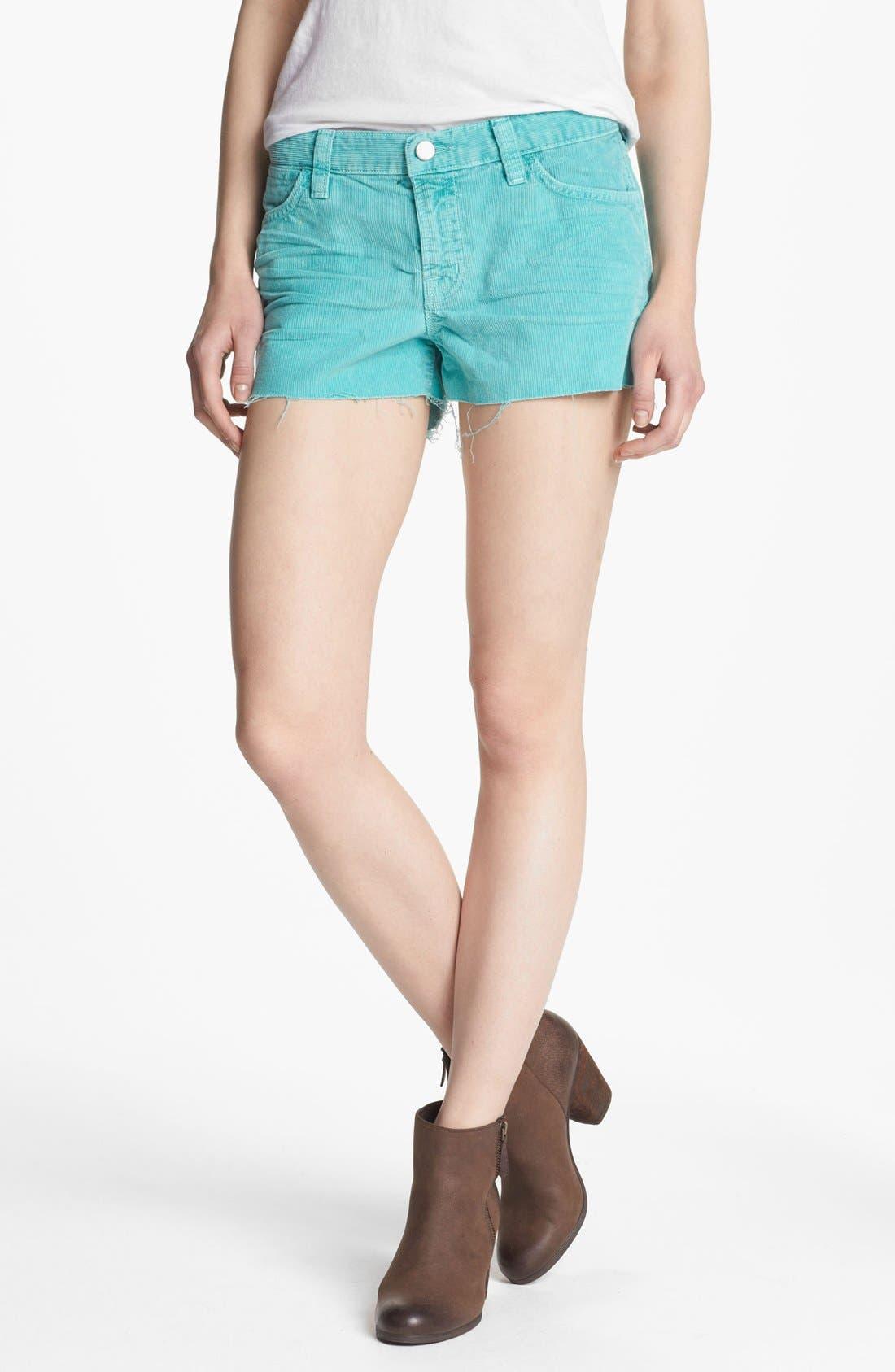 Alternate Image 1 Selected - J Brand Cutoff Corduroy Shorts
