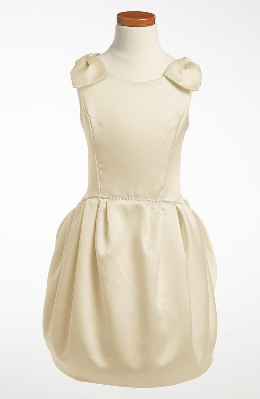 Alternate Image 1 Selected - La Piccola Danza Kidswear Satin Pleated Dress (Little Girls & Big Girls)