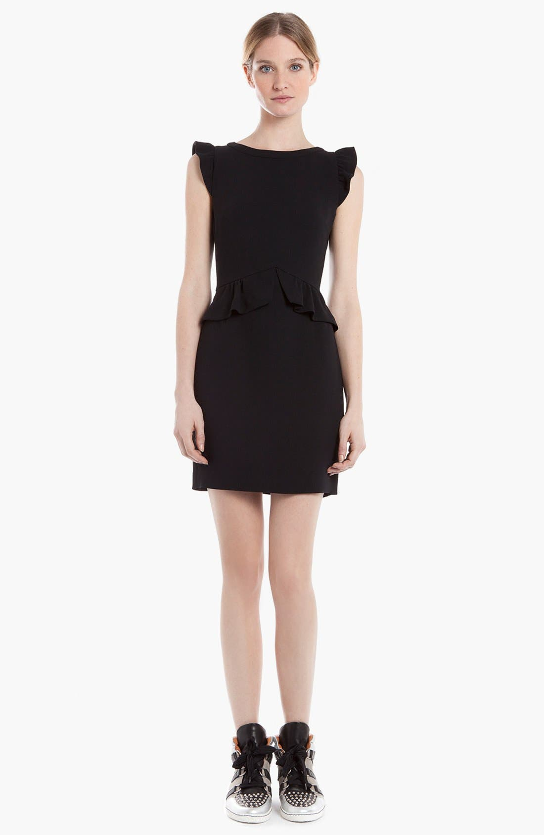 Alternate Image 1 Selected - sandro 'Resonance' Ruffle Sheath Dress