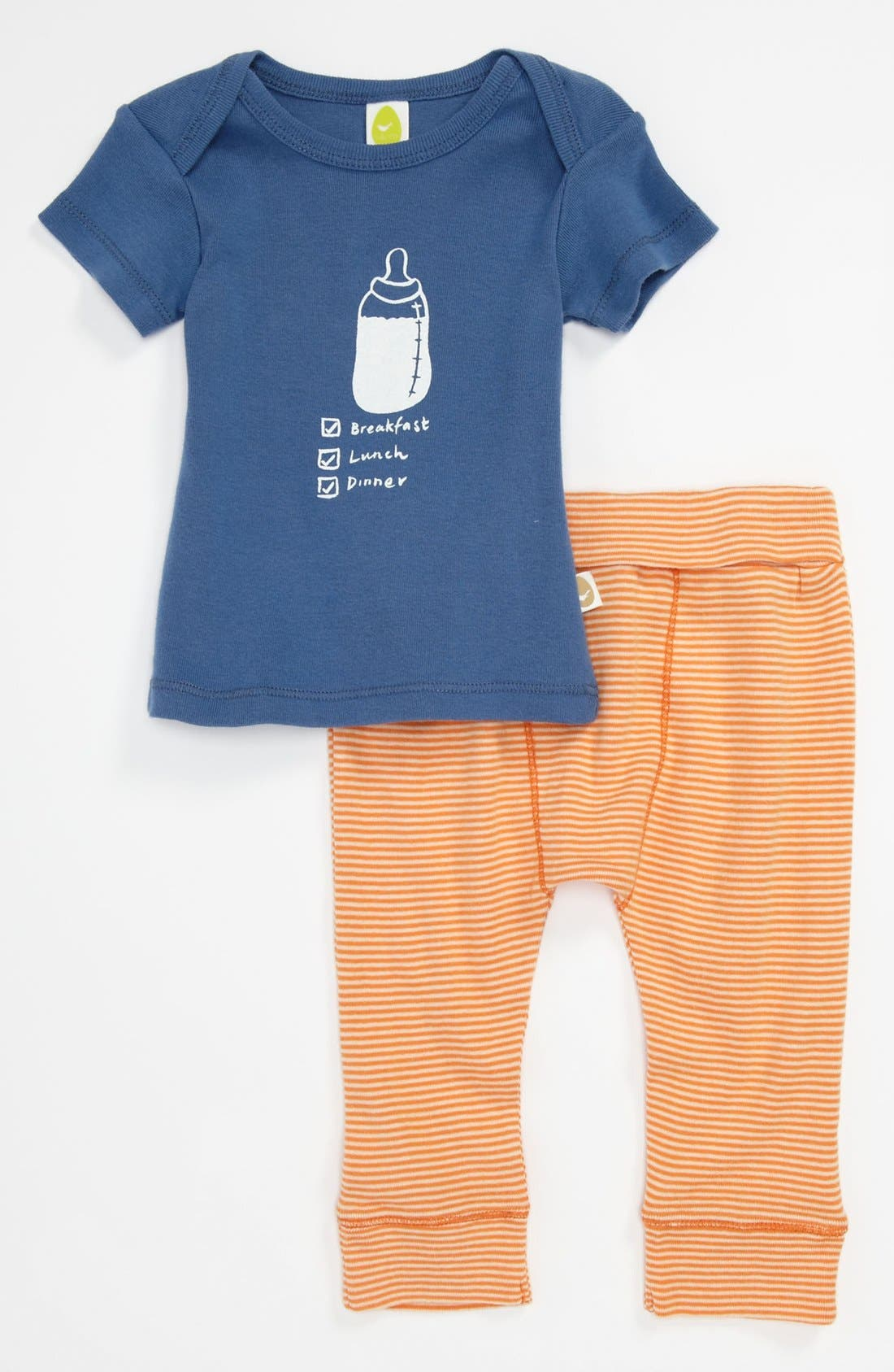 Main Image - Stem Baby Organic Cotton Top & Pants (Baby)