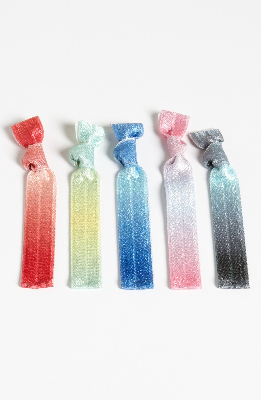 Alternate Image 1 Selected - Kitsch Hair Ties (Set of 5) (Girls)