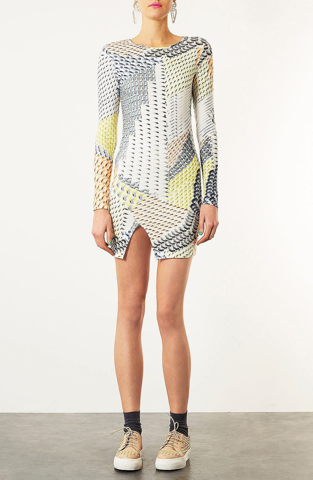 Alternate Image 2  - Topshop Geo Tile Body-Con Dress