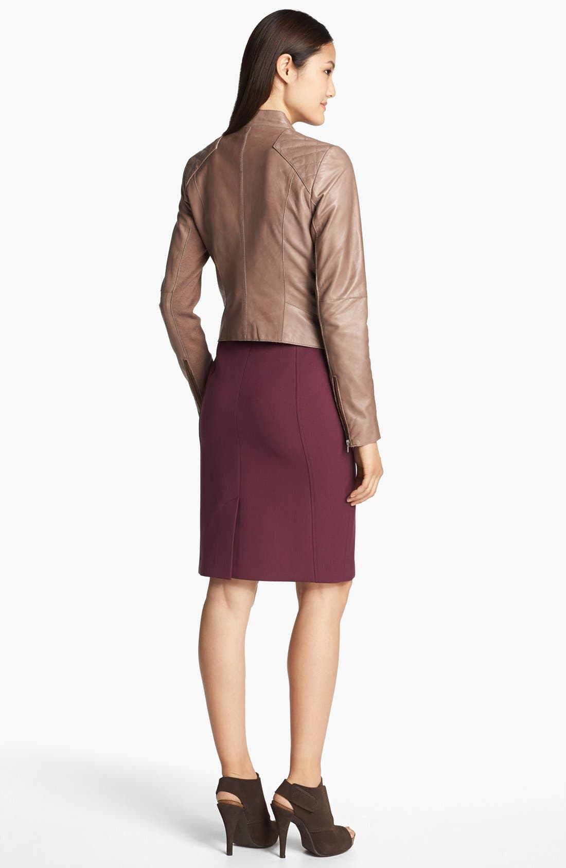 Alternate Image 5  - Halogen® Cutaway Leather Jacket