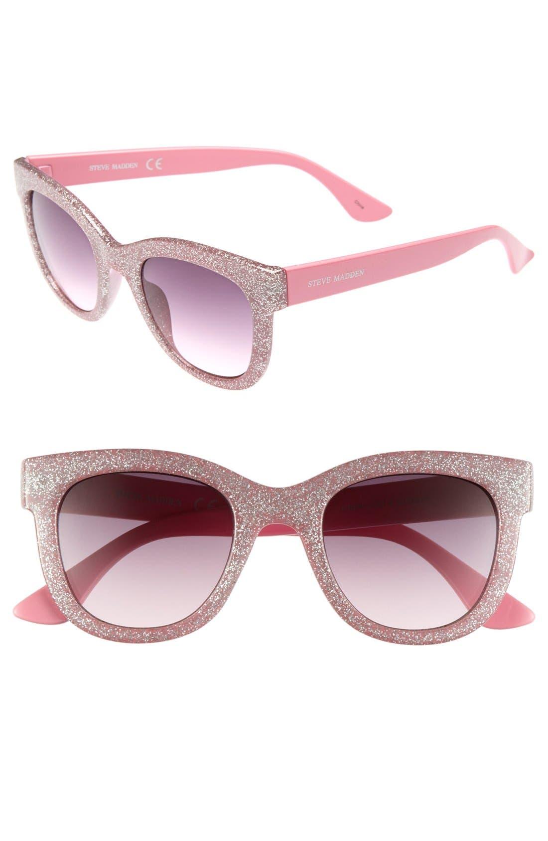 Main Image - Steve Madden Glitter Sunglasses