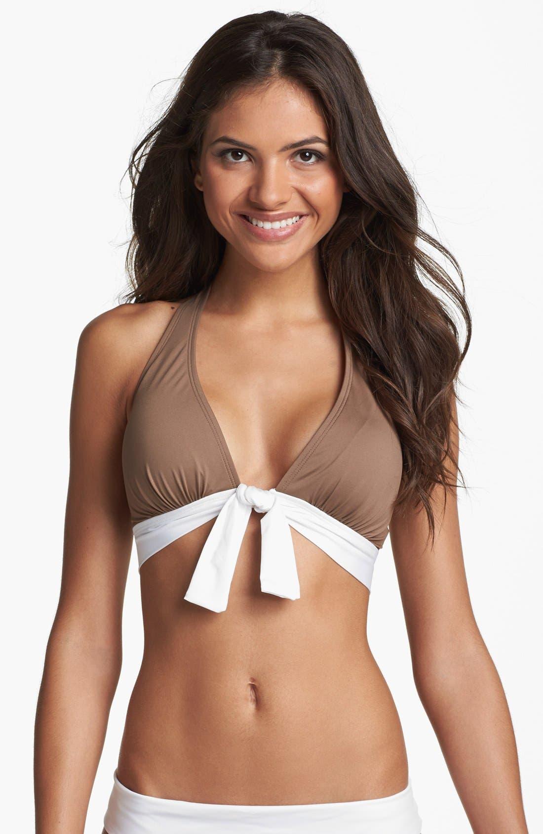 Alternate Image 1 Selected - Tommy Bahama 'Deck Piping' Halter Bikini Top