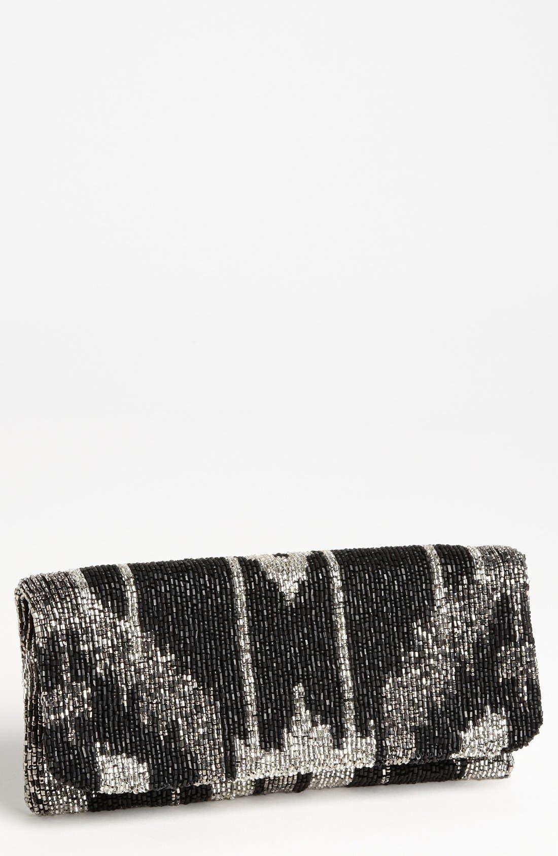 Alternate Image 1 Selected - Moyna Ikat Beaded Silk Clutch