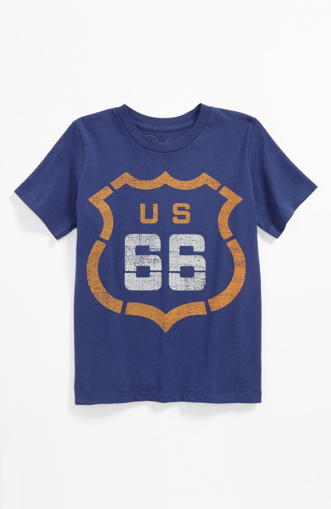 Alternate Image 1 Selected - Peek 'Route 66' T-Shirt (Big Boys)