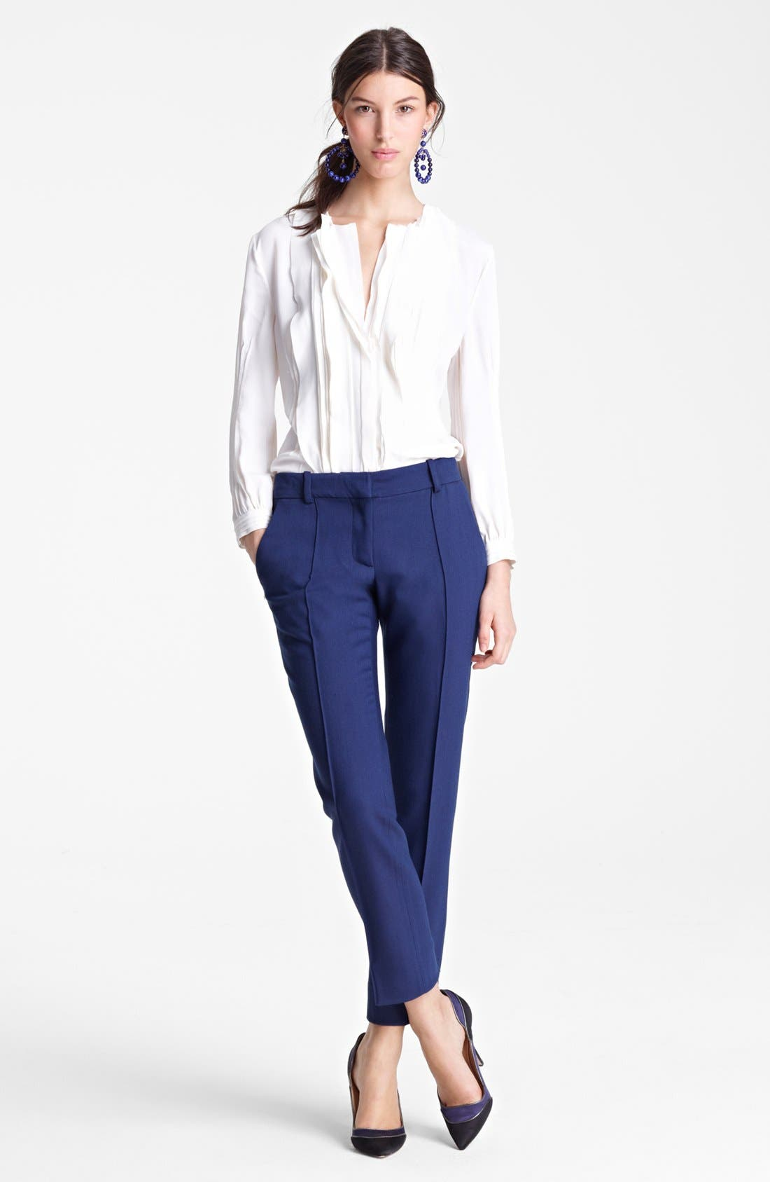 Alternate Image 1 Selected - Oscar de la Renta Blouse & Pants