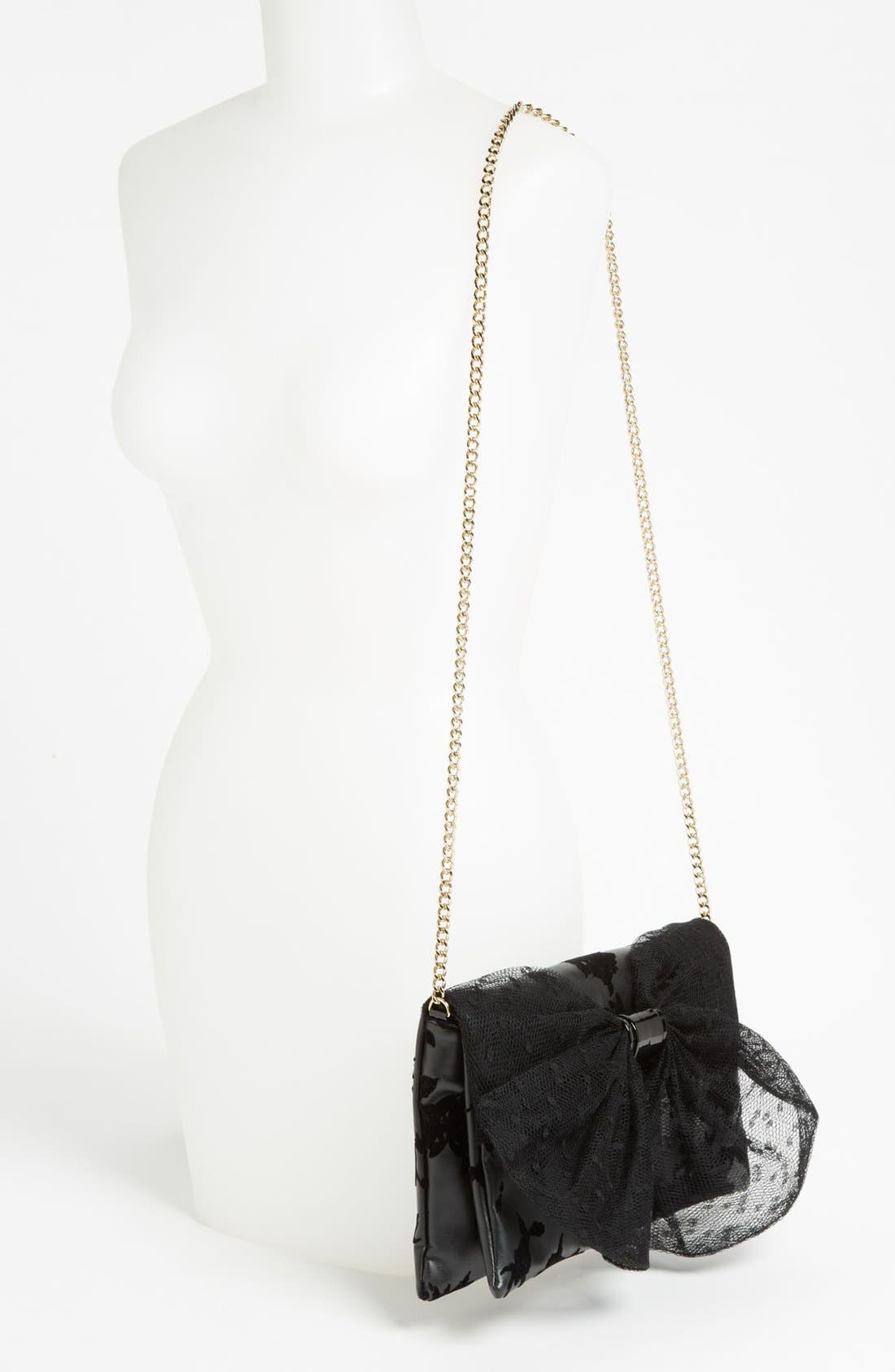 Alternate Image 2  - RED Valentino 'Dot Bow' Flocked Clutch